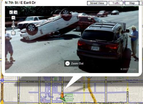 Google Street View Crash lead