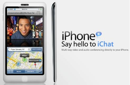 iPhone com iChat